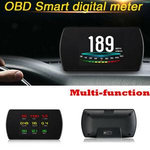 OBD2 HD Car HUD Computer Head Up Display Smart Digital Meter Overspeed Warning