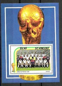 #9090 ST VINCENT 1990 SPORT FOOTBALL SOCCER WORLD CUP MEXICO 86 S/S YV BL 32