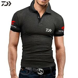 Daiwa Fishing Clothing Tshirt Men Breathable Quick Dry Fishing Clothes Outdoor