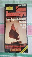 (SEALED) Simon Boccanegra - Giuseppe Verdi  - Cassette Box Set - Claudio Abbado