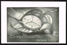 1940's Vintage 1945 Enicar Watch Co. - Paper Print AD