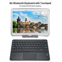 "9"" Tablet Touchpad Bluetooth Wireless Keyboard Full Keys for Android Windows iOS"