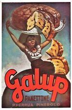 PUBBLICITA' 1957 PANETTONE GALUP PINEROLO P.FERRUA BOCCASILE DOLCE DONNA SORRISO