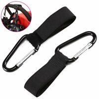 2pcs Shopping Bag Hooks For Buggy Pram Pushchair Stroller Clips Large Hand Carry