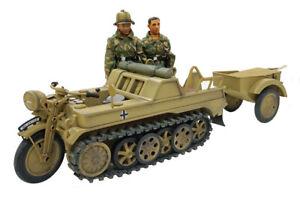 Ultimate Soldier KETTENKRAD TANK + TRAILER + 2 FIGURES - 1:6 Scale - IT'S HUGE!