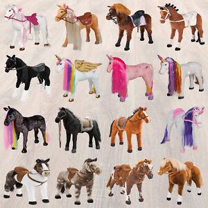 Happy People Pferd Reitpferd Plüschpferd Stehpferd groß Stute Hengst