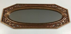 Antique Ornate Gold Syroco Framed Hanging Wall Mirror