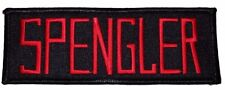 Ghostbusters Movie SPENGLER Uniform Name Tag Iron-on/Sew-on PATCH