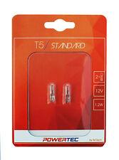 2x T5 12V 1.2W Powertec Standard W2x4.6d Bulb Blister PTZ29-02B