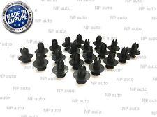NEW 20X 8MM FASTENER SCREW PUSH TYPE REPLACEMENT BUMPER TRIM PLASTIC CLIPS