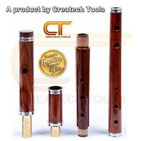 """Traditional Irish Wooden """"D"""" Flute Rosewood 4-Part 26"""" / 3-Part 23"""" with Case"""