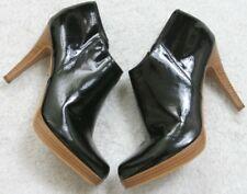 Qupid Women's Black Brown Boots Woman's Solid Ten 10 Man Made Materials Side Zip