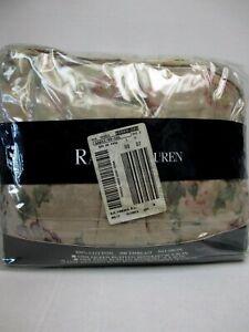 New RARE Ralph Lauren FRANCESCA Neutral Floral Dust Ruffle Bedskirt - Cal King