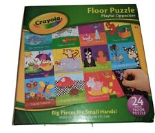 """Crayola Playful Opposites Floor Puzzle 24 Big Pieces For Small Hands 24"""" X 18"""""""