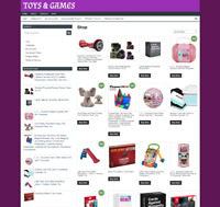 Toys Website - New Domain - One Years Hosting - Ecommerce