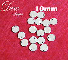 20 x 10mm stainless steel round tags stamping blank tag charms 304