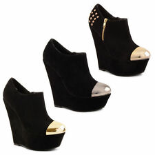 Unbranded Faux Suede Wedge Casual Heels for Women