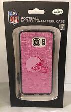Pink NFL Football Pebble Grain Feel Samsung Galaxy S6 Case
