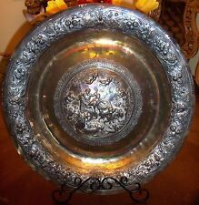 1802 Magnificent & Rare English Sterling Silver Large Charger - Tray