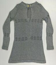 Vintage 70's Mod - Mary Farrin - Metallic Knit Sweater Midi Dress - Women's XS