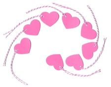 50 Pink Heart Gift Tags - Wedding Party Favor Valentines Craft Fair Price Labels
