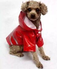 Hundemantel Regenmantel Hundebekleidung Hundejacke Chihuahua S Yorkie Rot NEU