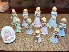 Lot of 11 Enesco Growing Up Birthday Girls Blonde, Birth-10, 10 boxes