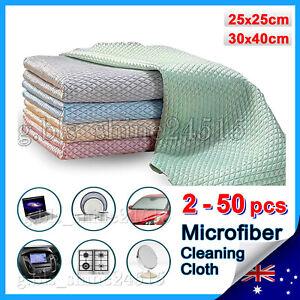 Fish Scale Microfiber Cleaning Polish Cloth Dish Wash Car Glass Wipe Kitchen Hom