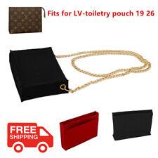 Insert Bag Felt Cloth Handbag Organizer For LV Toiletry Pouch 19 26 Multi Pocket