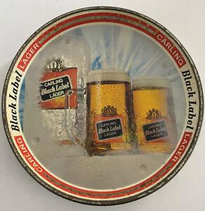 Carling Black Label Lager Beer Tray Vintage