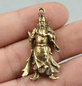 40MM Collect Curio Chinese Bronze Guan Gong Yu Warrior God Amulet Small Pendant