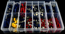365 PIECE ASSORTED WIRE ELECTRIC TERMINAL KIT- RING SPADE BUTT - RED YELLOW BLUE
