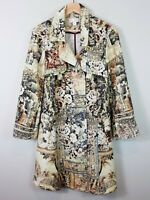 [ BOO RADLEY ] Womens Floral Print Midi Length Coat | Size AU 16 or US 12
