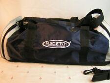 MuscleTech Premium Duffel / Gym Bag Black, Navy & Gray, EXC Free Fast Ship