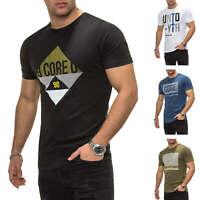 Jack & Jones Herren T-Shirt Kurzarmshirt O-Neck Print Shirt Rundhals SALE %
