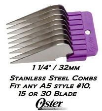 "OSTER STAINLESS STEEL 1 1/4""Blade GUIDE COMB*Fit A5,A6,Andis AGC,Wahl KM Clipper"