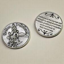 Saint St Michael the Archangel Pocket Token Protector Devotion Prayer Coin Medal