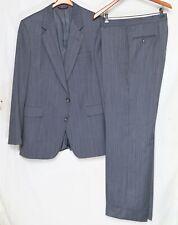 Blue'ish-Gray Herringbone Pinstripe Hart Schaffner Marx Suit_Sz.44L_Pants 39x33