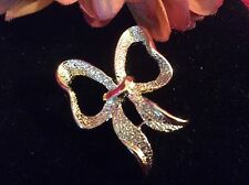 Vintage Jewelry GERRYS Gold Plated perfect Ribbon Bow Scarf Collar Pin Brooch