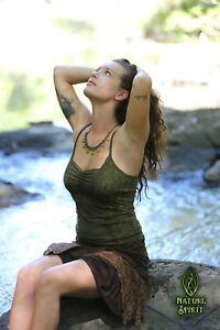 Gypsy Lace Tank Top, Boho Hippie Pixie Festival Goa Elven Yoga Clothing Fairy