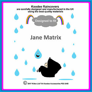"""RAINCOVER by Koodee designed to fit """"Jane Matrix"""" Car Seat. Made in the UK BNIP"""