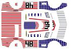 #48 Stars N Stripes Corvette 1971 1/43rd Scale Slot car Waterslide Decals