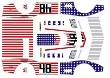 #48 Stars N Stripes Corvette 1971  1/43rd Scale Slot car Waterslide Decals