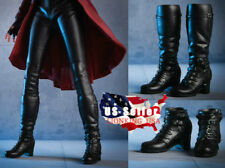 1/6 Avengers Scarlet Witch Boots BLACK PEG TYPE For 12'' PHICEN Female Figure
