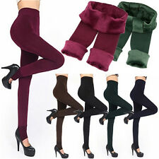 Women's Winter Thick and Warm Fleece Lined Thermal Stretchy Leggings Pants #AU