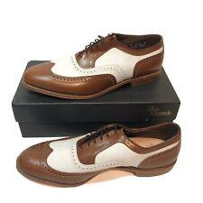 Allen Edmonds Olympiad Dress Shoes, Tan/white, Sz 13 D, 8853, Comb 0444, 33680 5