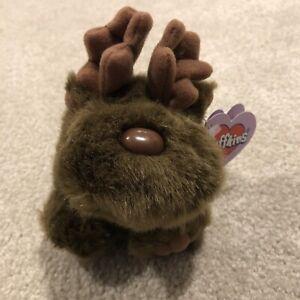 Puffkins Style 6612 Gus Moose Birthday 1-10-97 Swibco Stuffed Animal Plush Toy