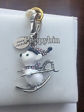 BRAND NEW JUICY COUTURE SKI MOUSE BRACELET CHARM IN TAGGED BOX
