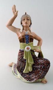 Rare Dahl Jensen, Denmark, Oriental figure Sumatra dancer, 1930/40s.