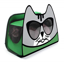 New listing Primetime Petz Hauspanther Kittypak Collapsible Backpack Cat Carrier, Deep Green